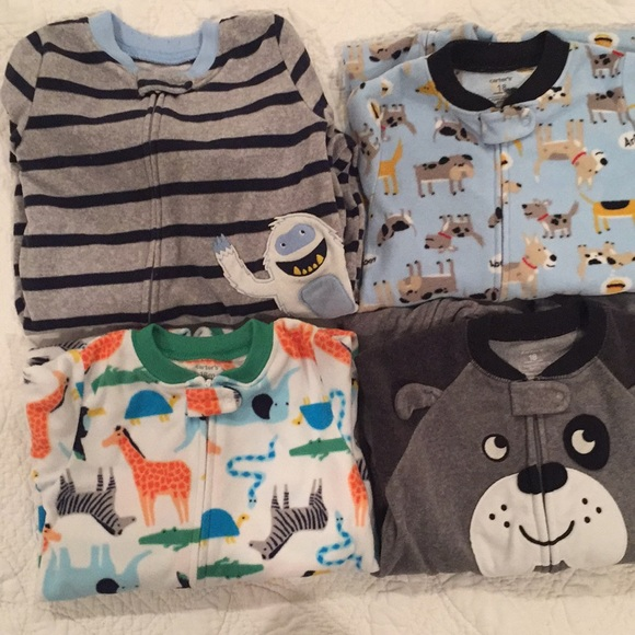 Carter's Other - 4 Pack Carters 18M Footed Zipper PJs